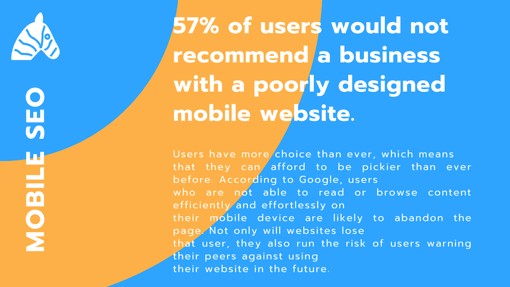 SEO statistic 2019 - 57% of users will abandon poolrly designed websites
