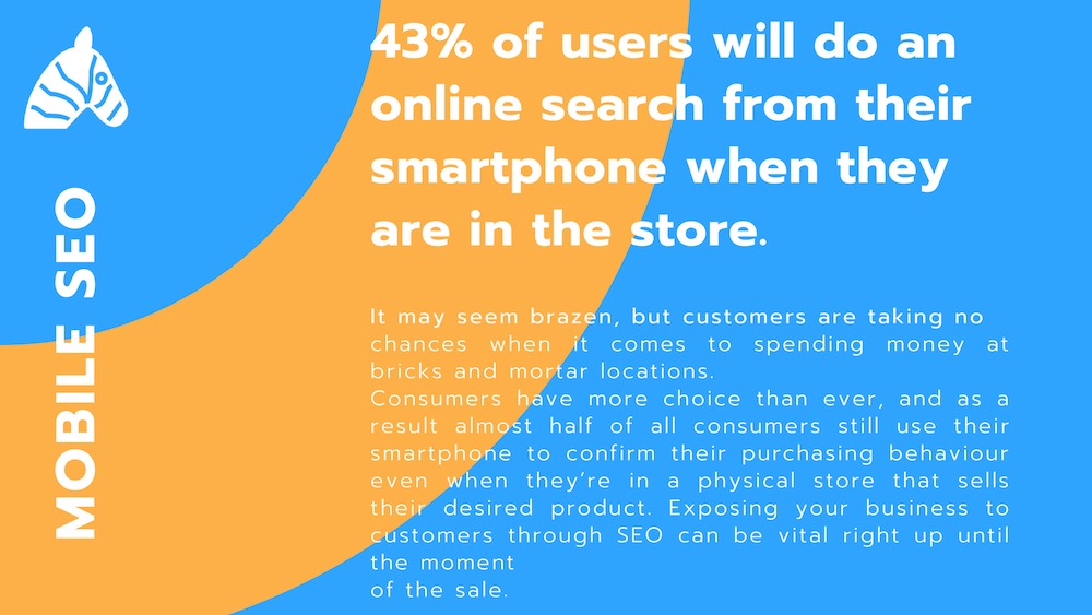 smartphone seo trends - 43% of users will visit the store after searching from a smartphone