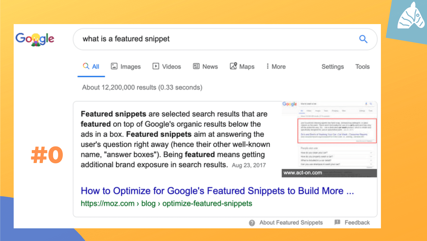 google featured snippet example