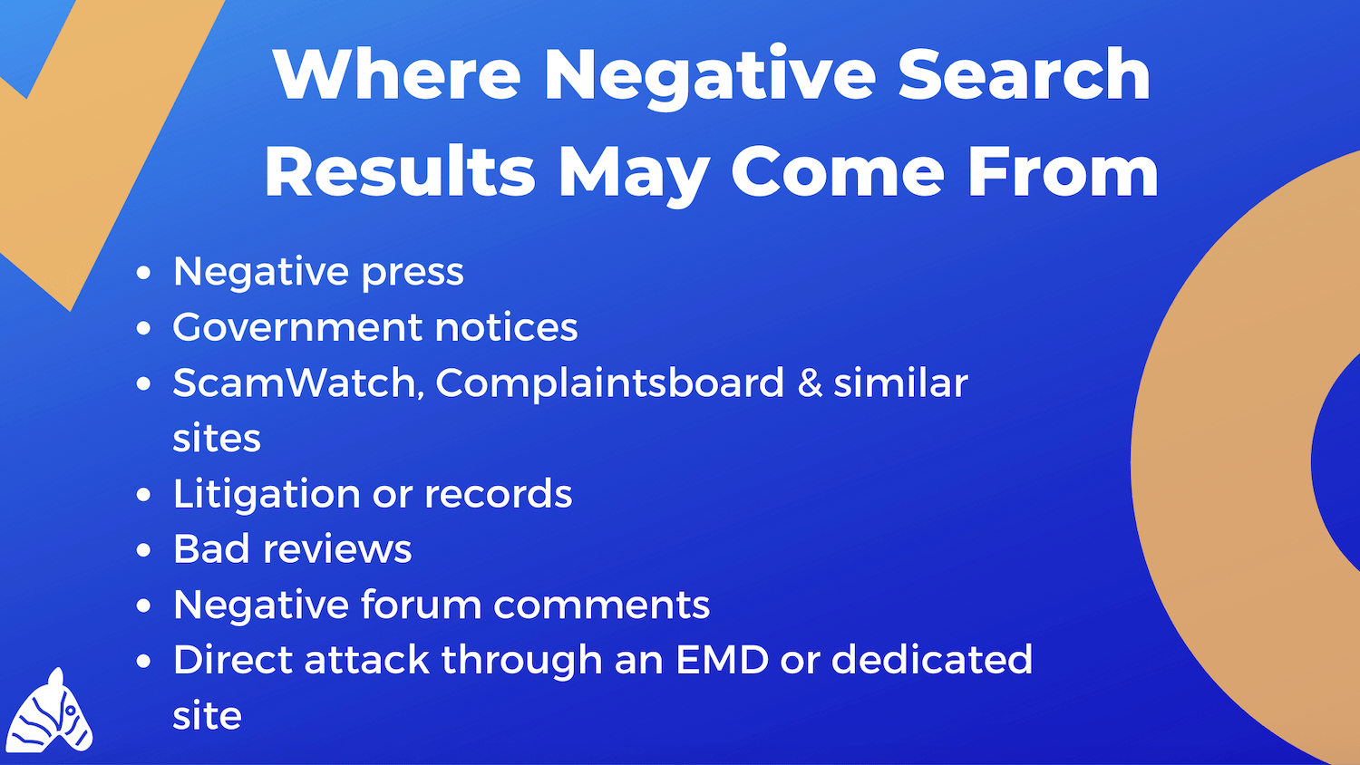 origin of negative search results