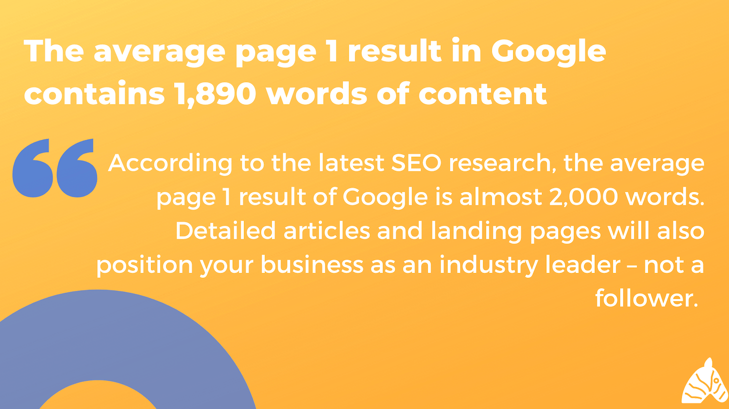 average page 1 google result word count in 2019