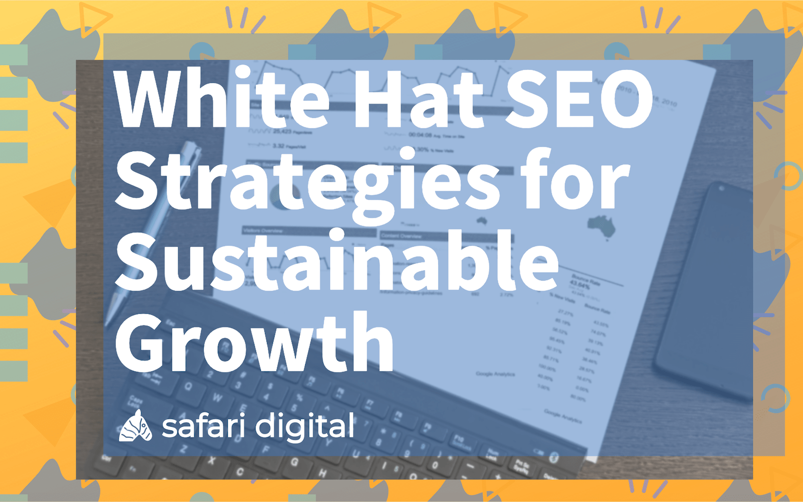 what hat SEO strategies for sustainable growth cover image
