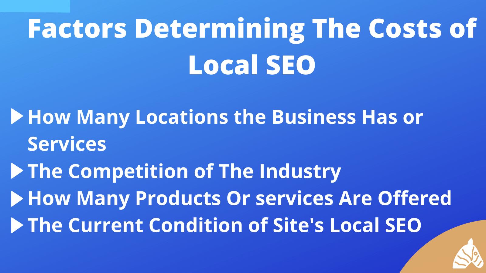 factors determining local SEO costs