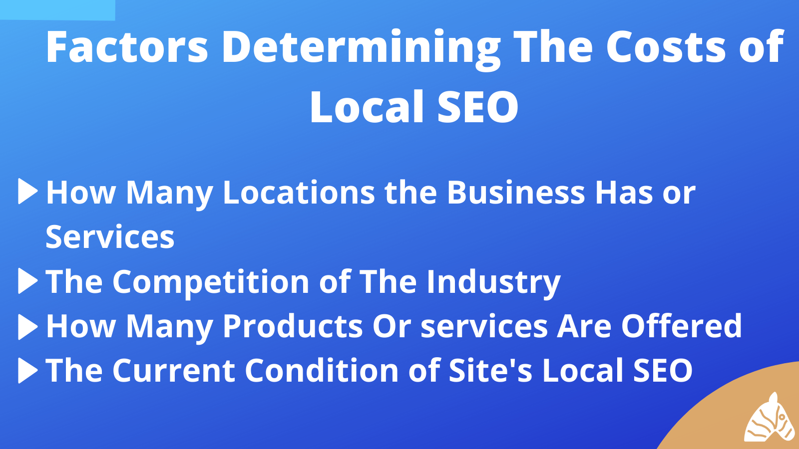factors determining local SEO costs