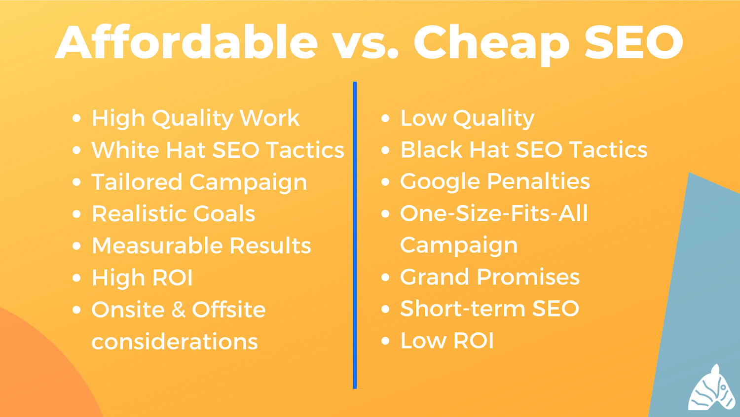 addordable vs. cheap seo Pro's and Cons List