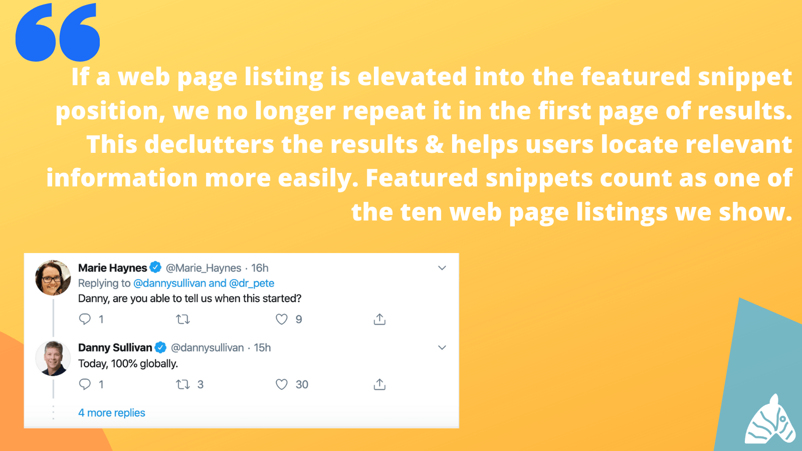 featured snippet update tweets - 1