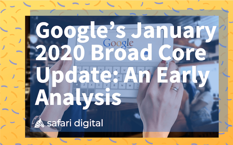google core update January 2020 cover image - small cover image