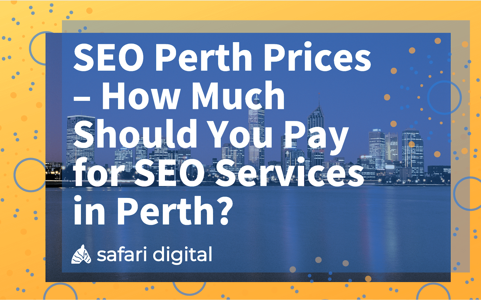 SEO perth prices cover image