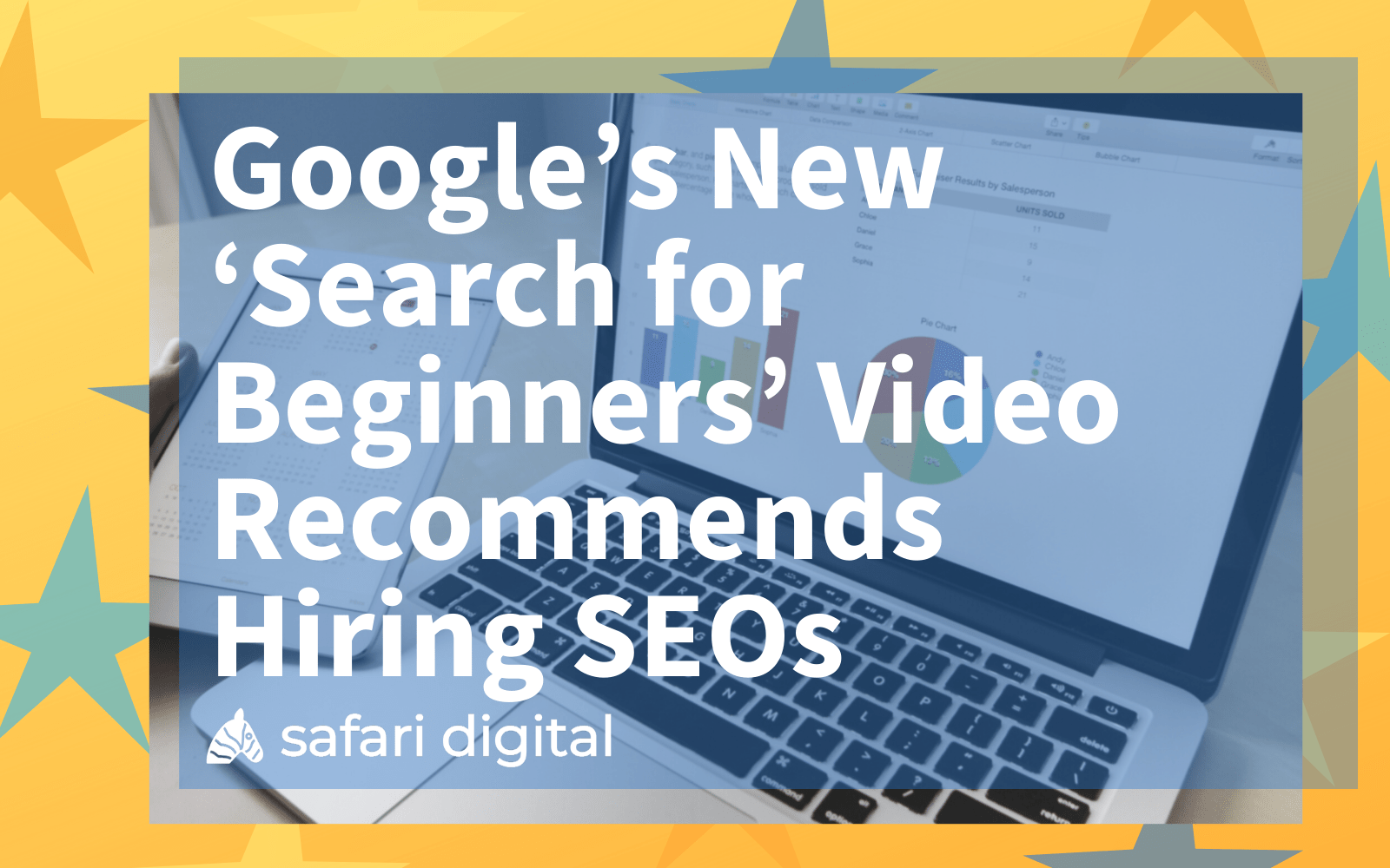Large cover image for Google search for beginners article about SEO