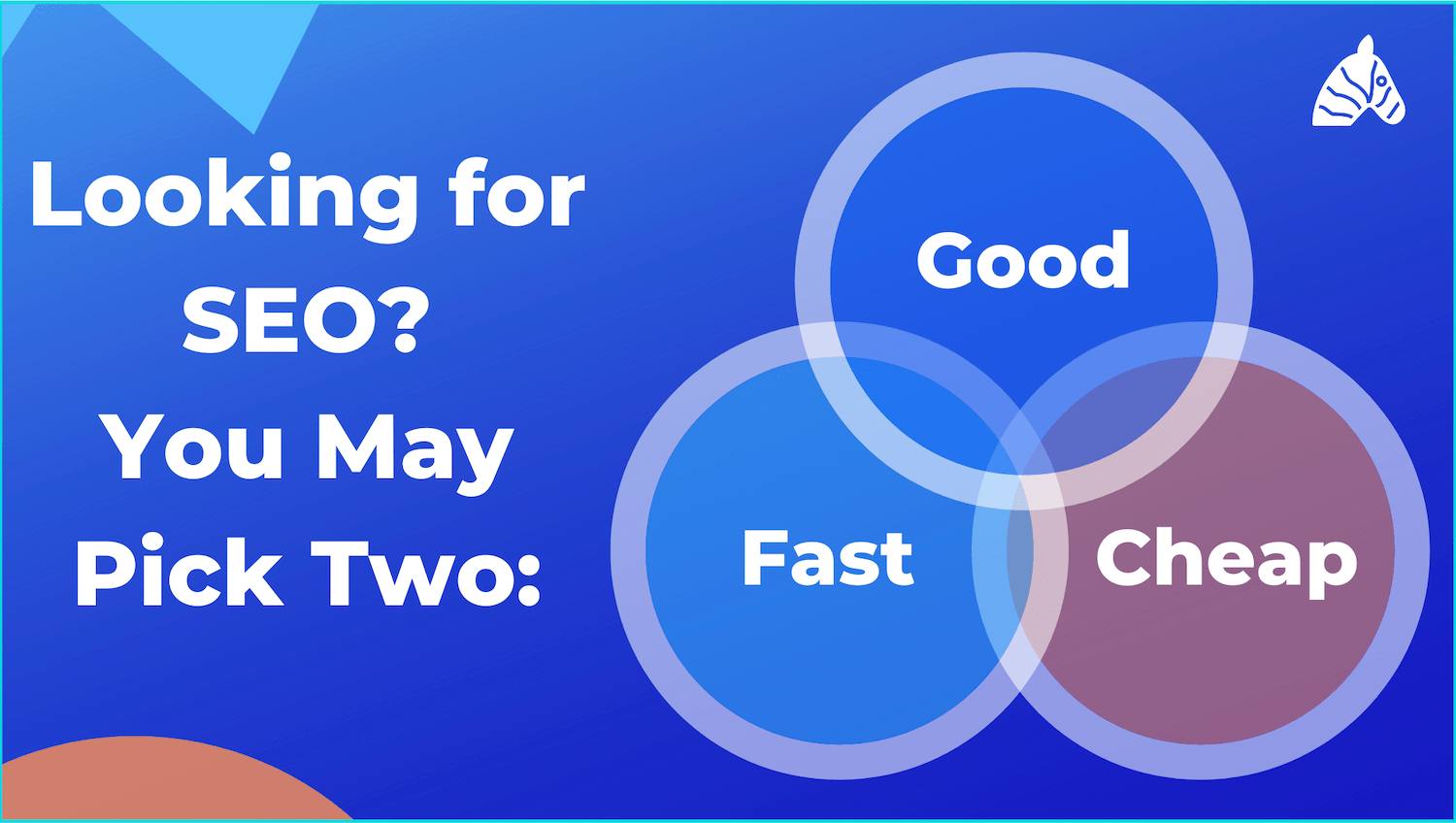 SEO services - fast, cheap or reliable