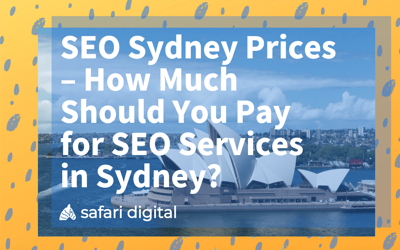 SEO sydney prices cover image