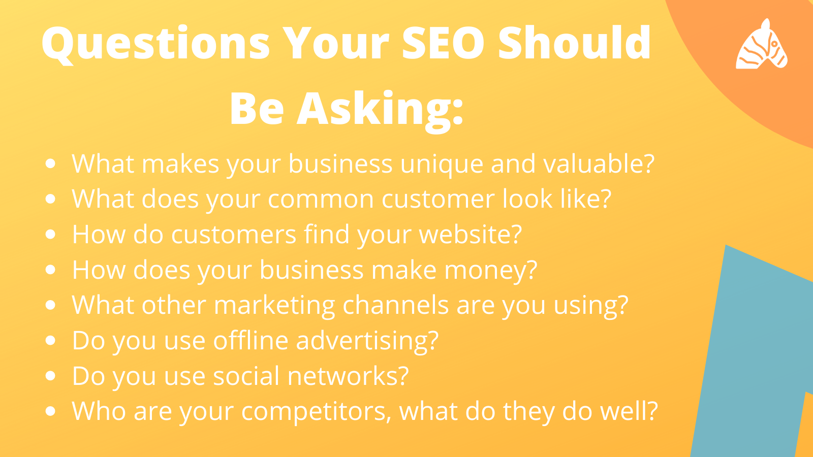 Questions your SEO expert should be asking