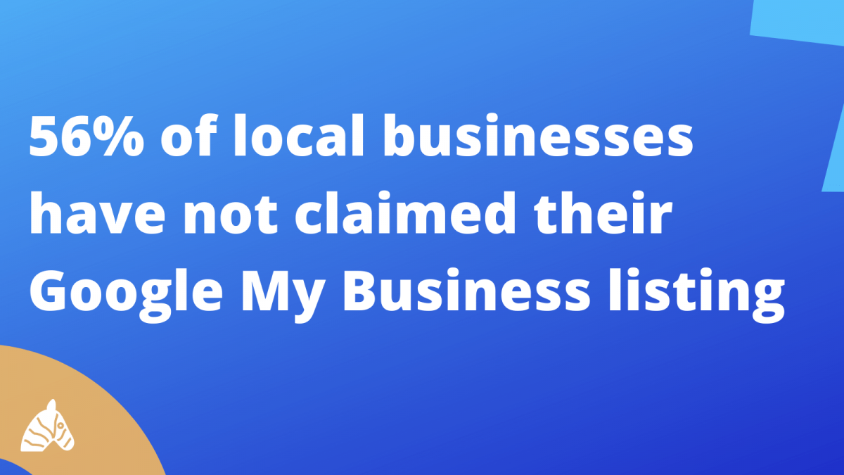 56% of all local businesses have not claimed their GMB listing as of 2020
