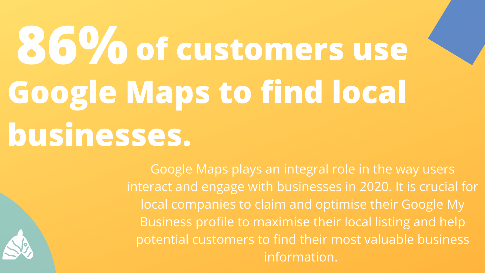 local seo statistic relating to the use of google maps to find local business