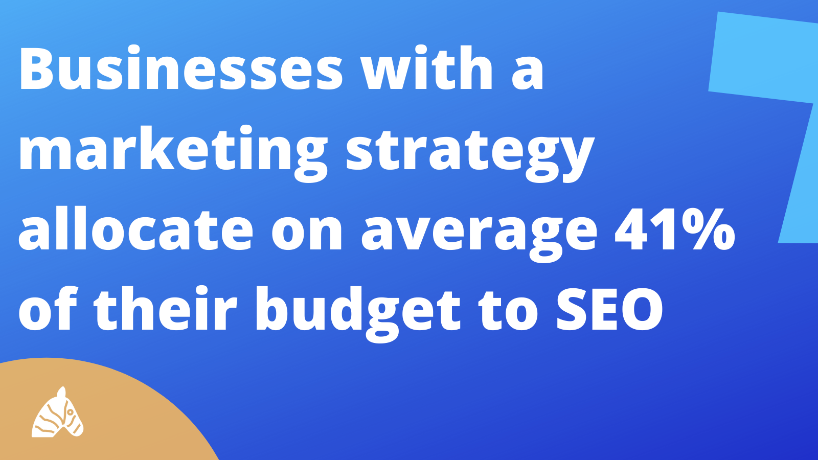 SEO Statistic about marketing budget allocated to SEO strategies