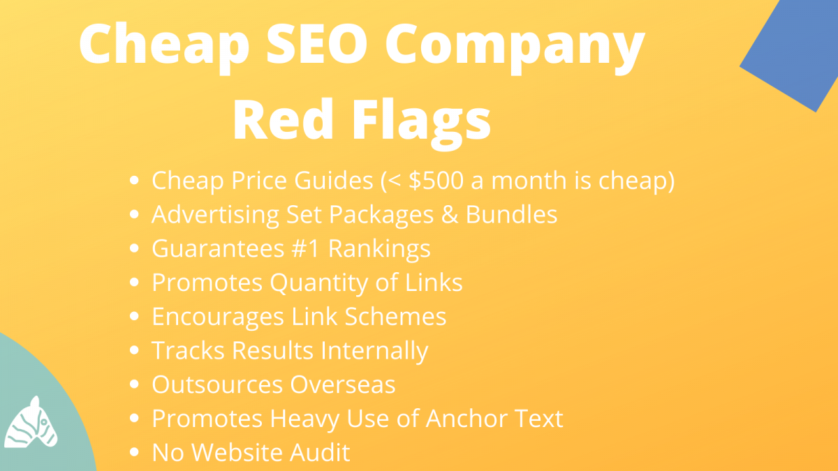 Warning Signs for cheap SEO packages