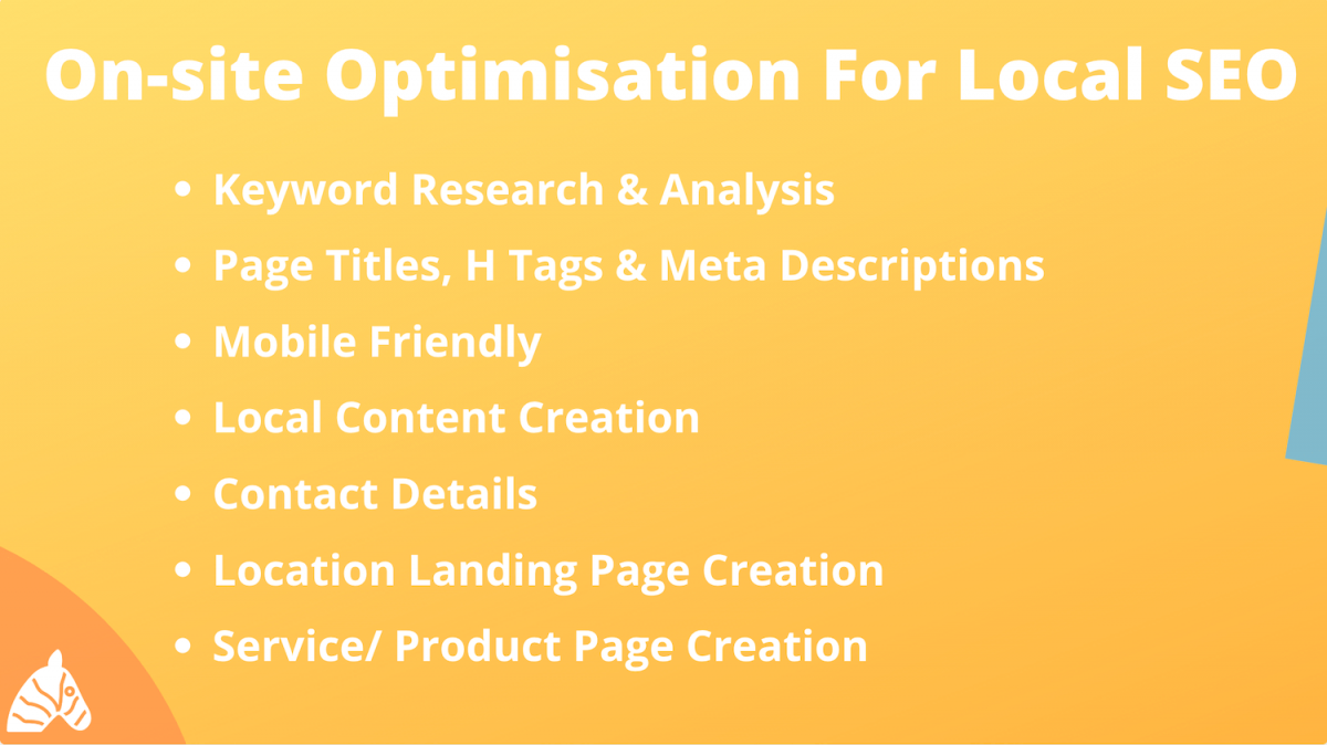 on-site SEO for local SEO campaign
