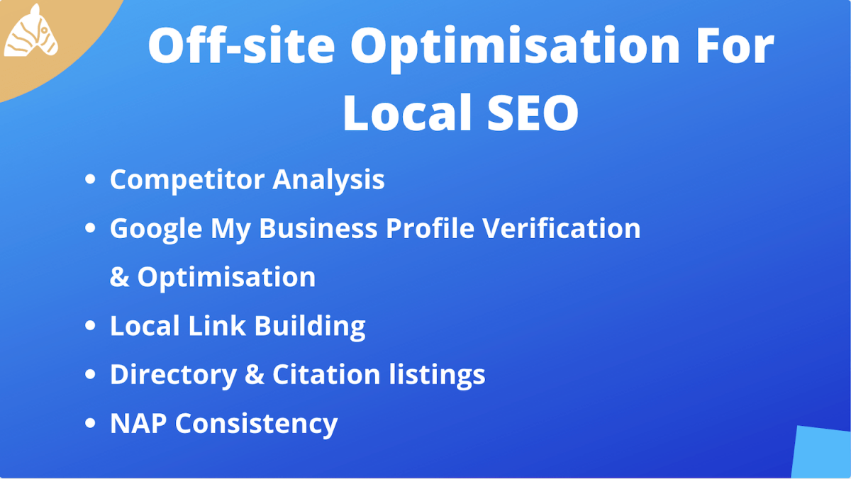 off-site optimisation for local SEO