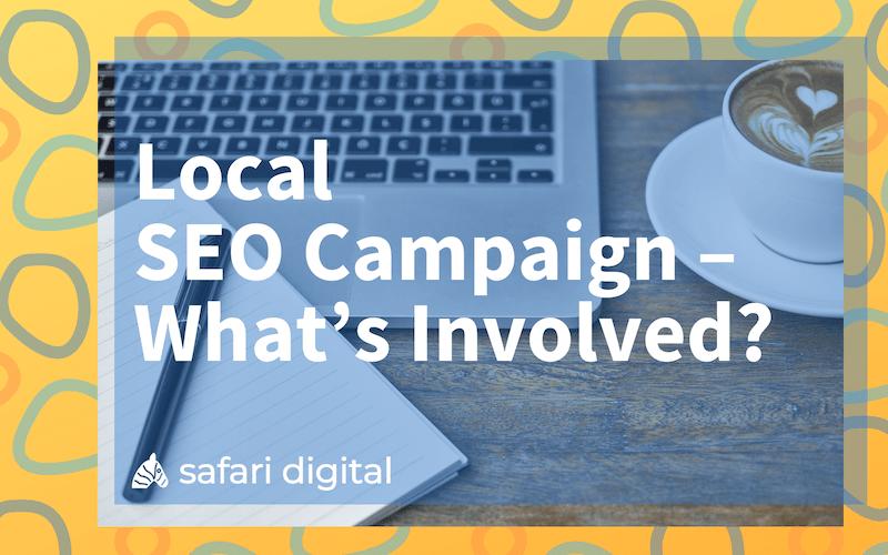 local SEO campaign cover image - small
