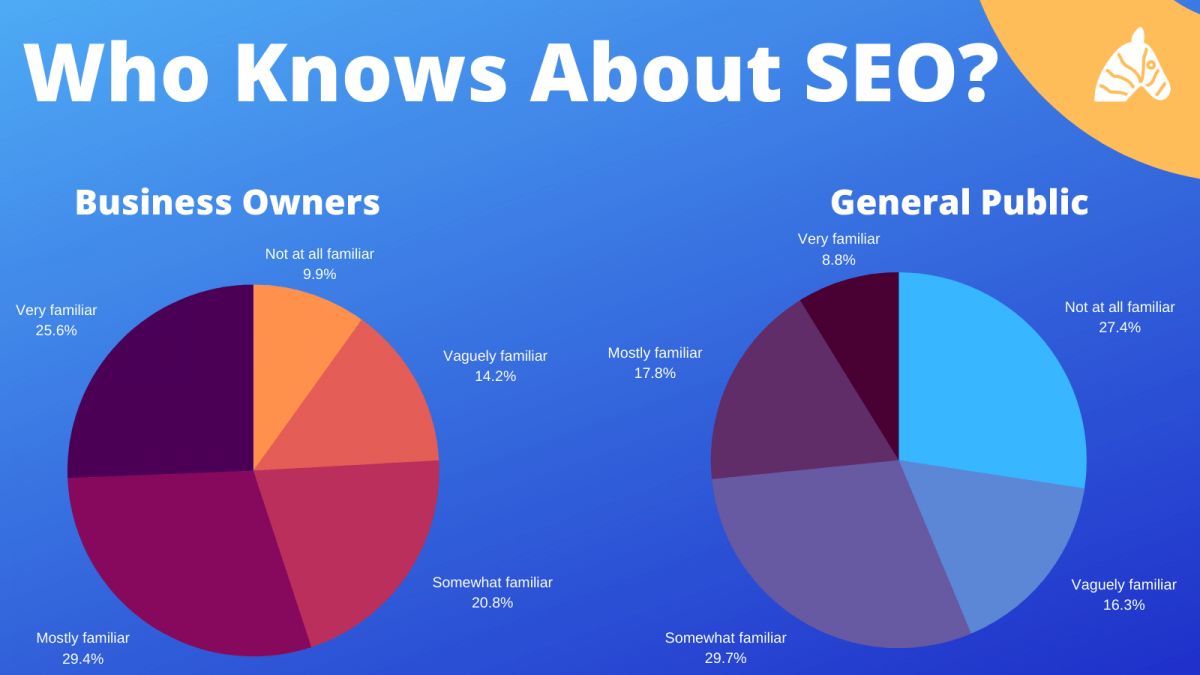 knowledge gaps in SEO chart explaining what people do and do not understand about SEO