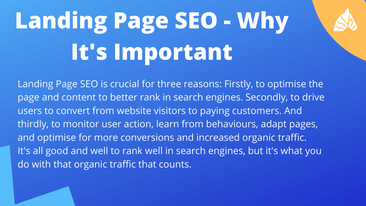 why landing page seo is important for overall site performance