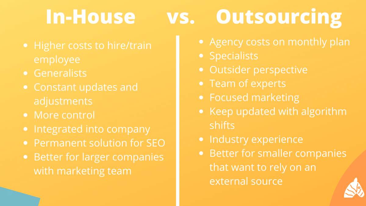 inhouse vs. outsourced SEO - which is best for your business