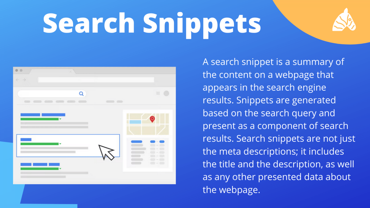 a summary of what a search snippet is