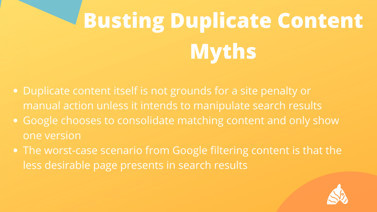 debunking the duplicate content seo myth