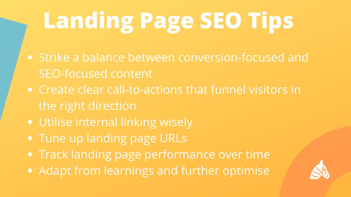 landing page seo tips