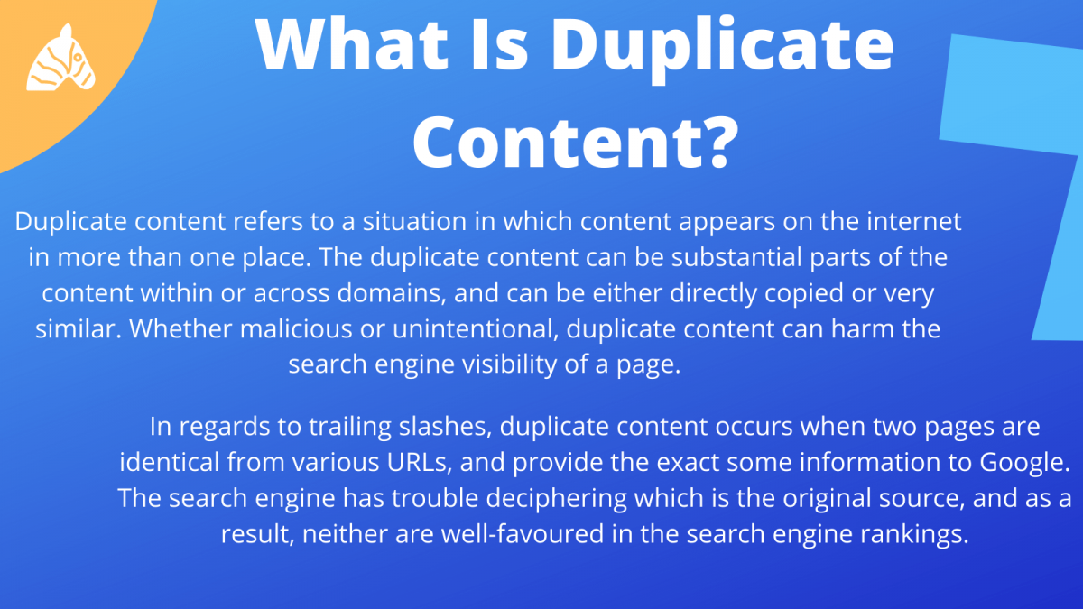 duplicate content and trailing slashes