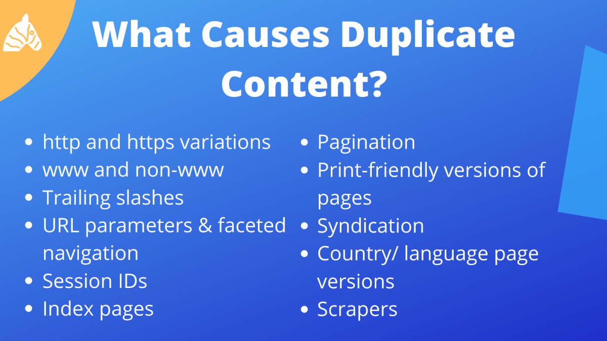technical issues that cause duplicate content