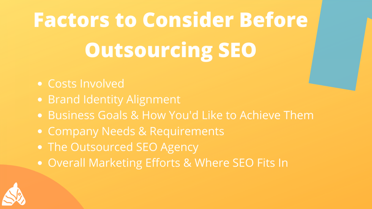 considerations when you outsource your SEO