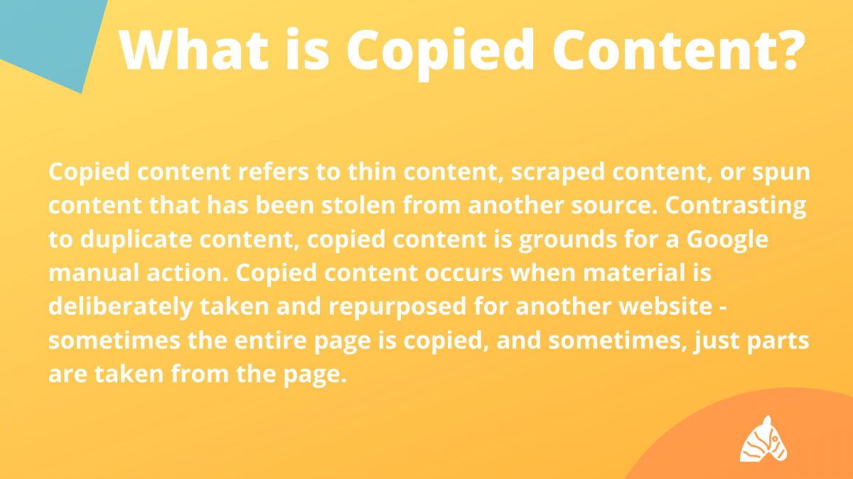 what is copied content vs duplicate content