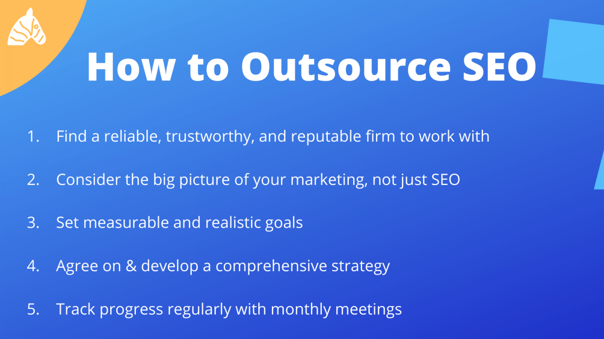 how to outsource SEO - a simple guide