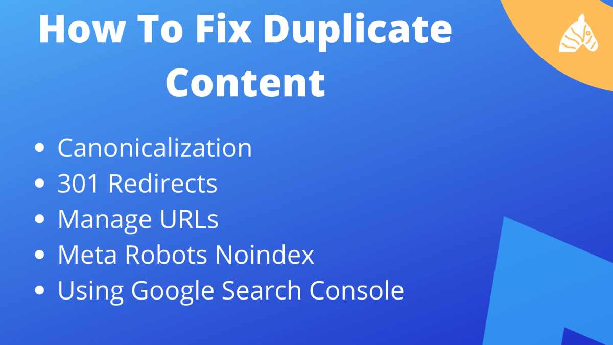 how to fix duplicate content issues from a technical standpoint