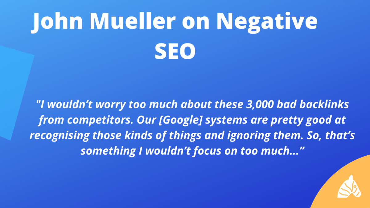 john mueller explains negative SEO