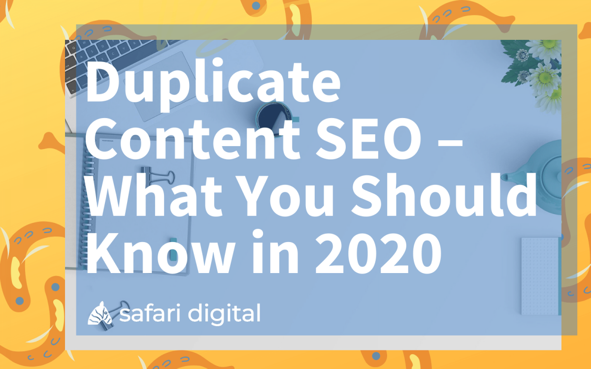 duplicate content SEO cover image