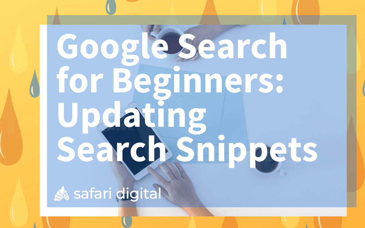 Google search for beginners series - updating the search snippets