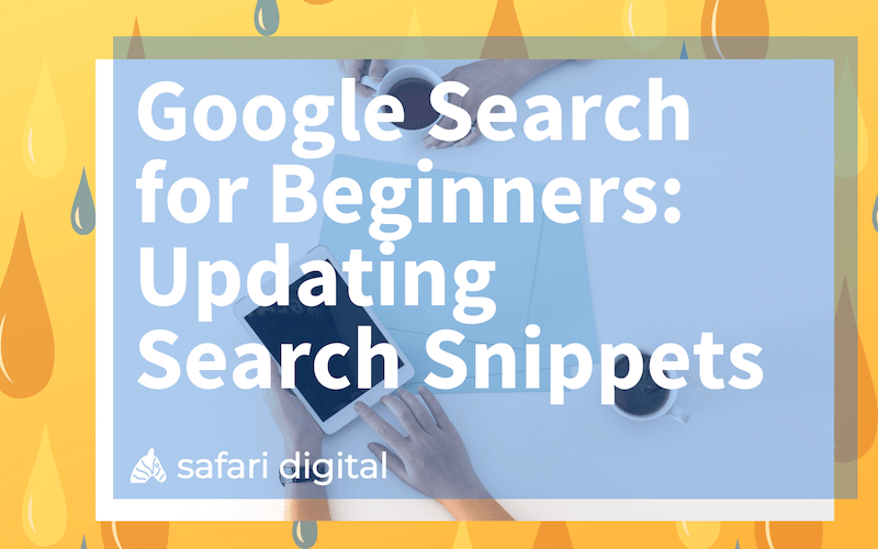 Google search for beginners series - updating the search snippets small image
