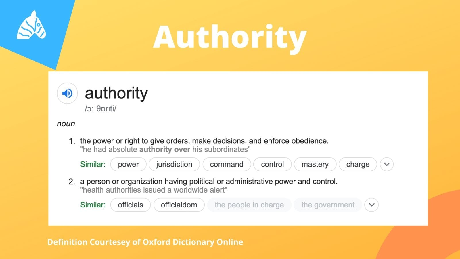 authority in the context of E-A-T acronym