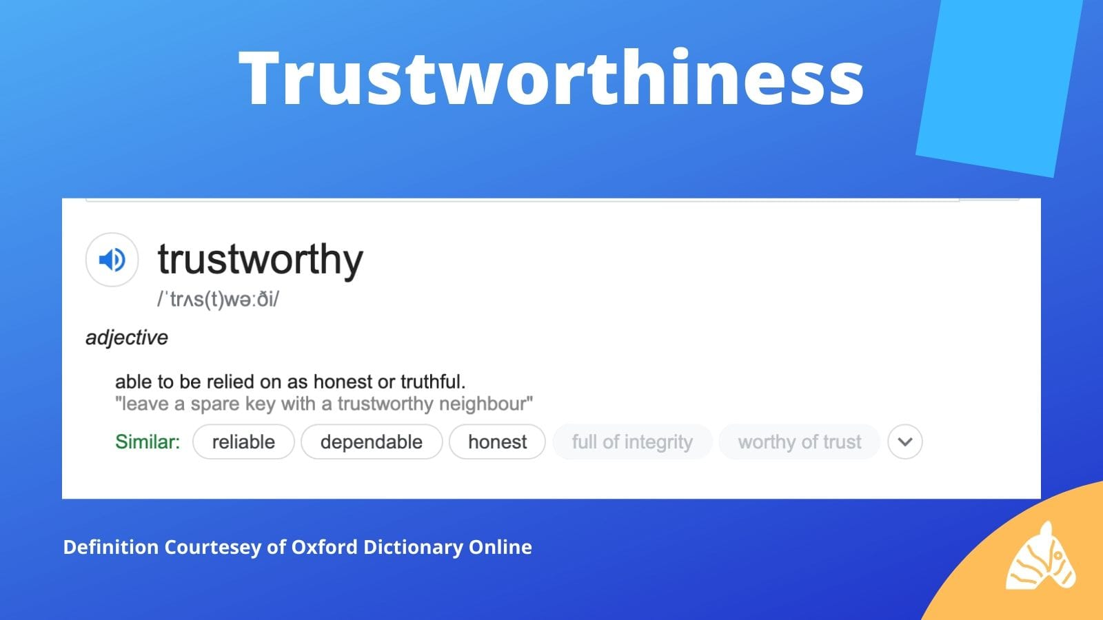 trustworthiness in the context of E-A-T acronym