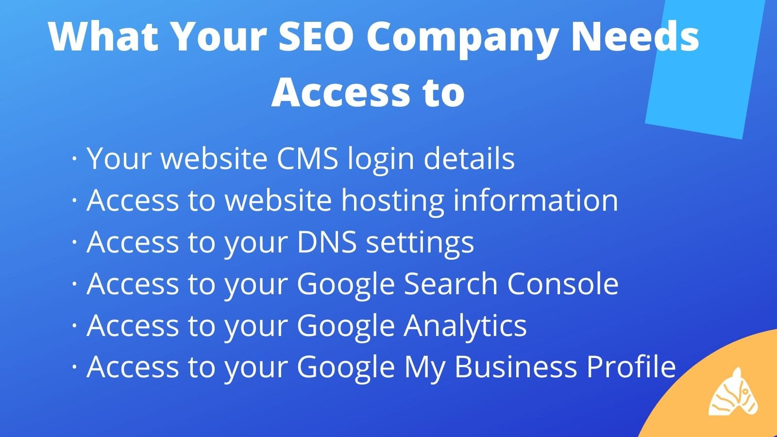 programs that your SEO company needs access to