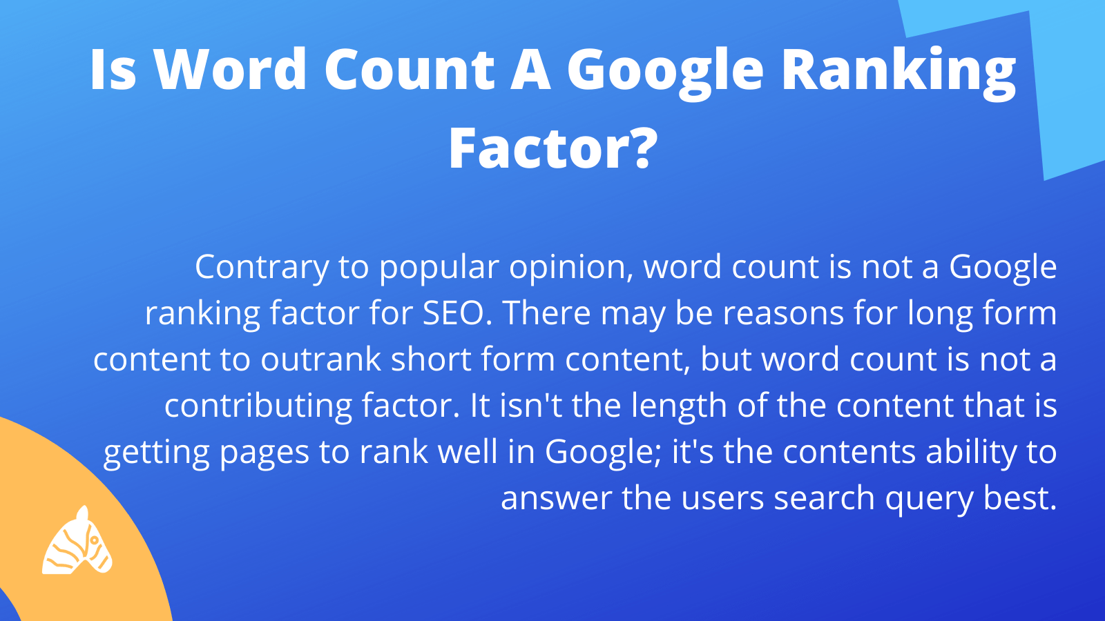 Is word count a Google ranking factor for SEO?