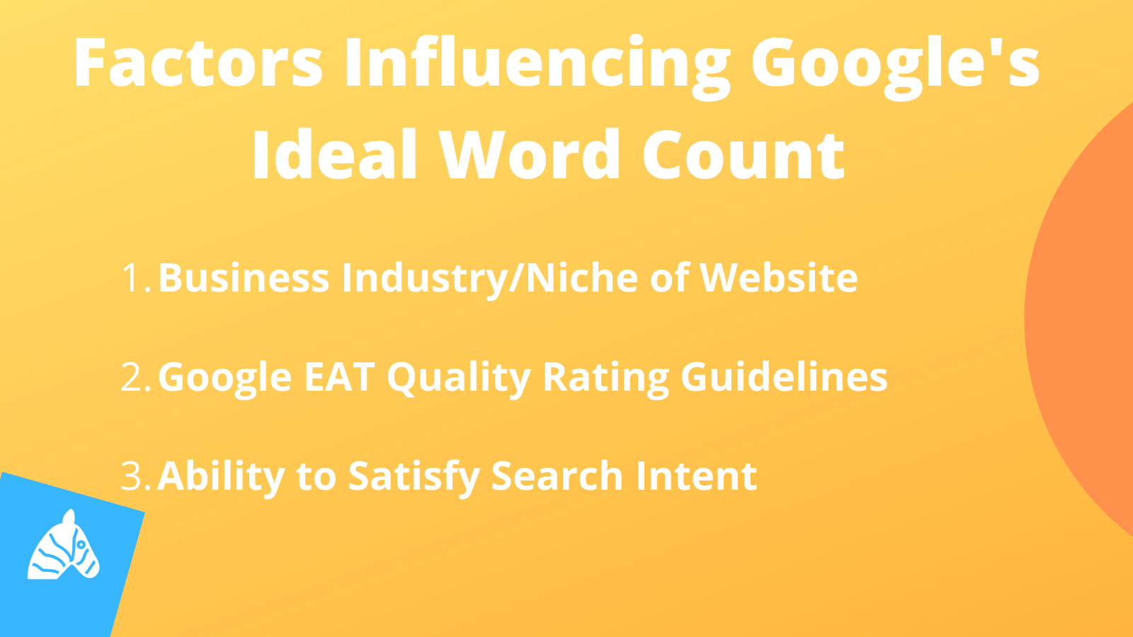 factors influencing the amount of words needed to rank on page 1 of Google