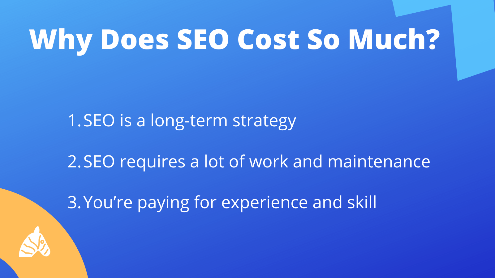 an explanation of costs involved with SEO