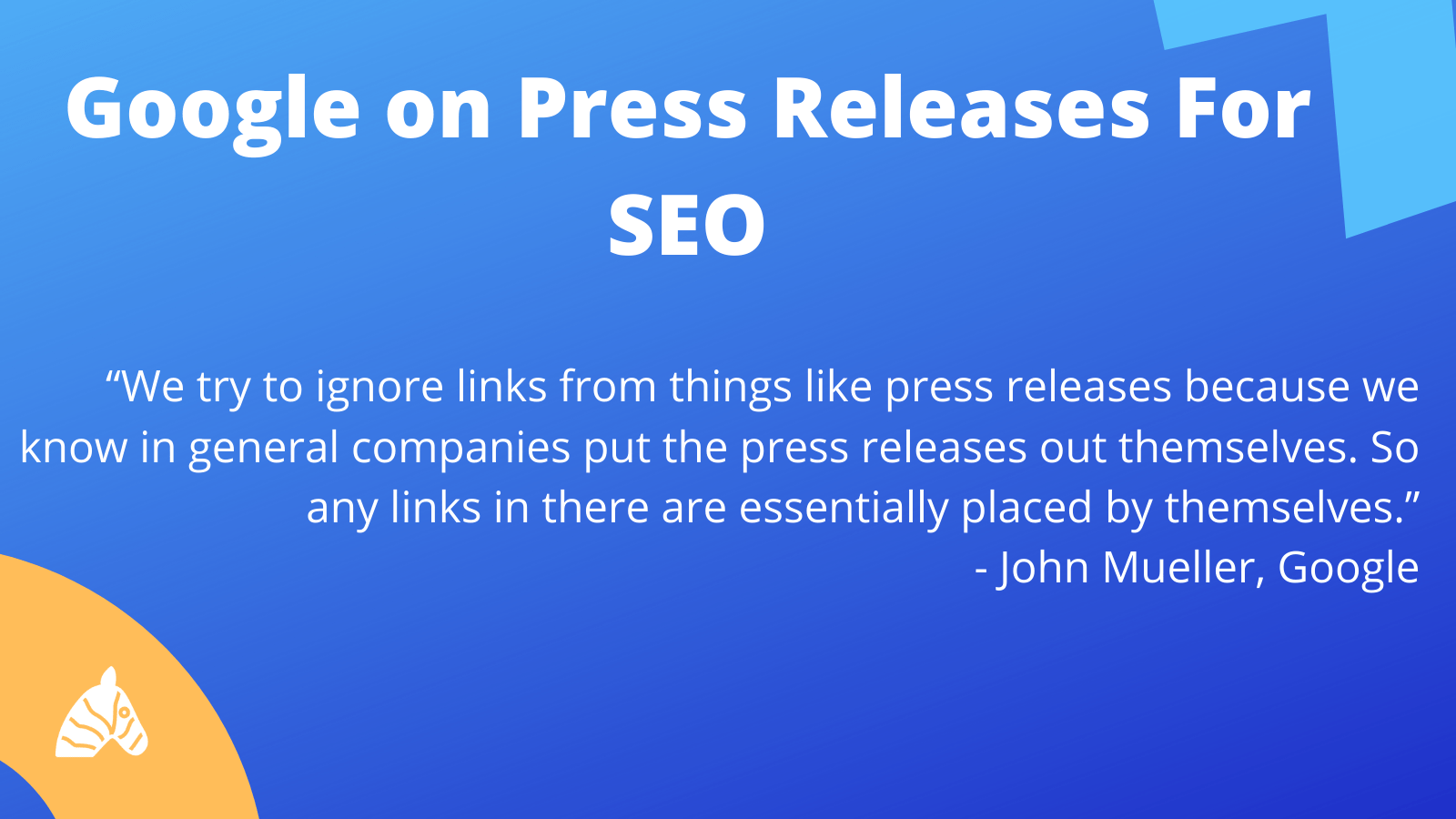 Google's stance on press releases for SEO