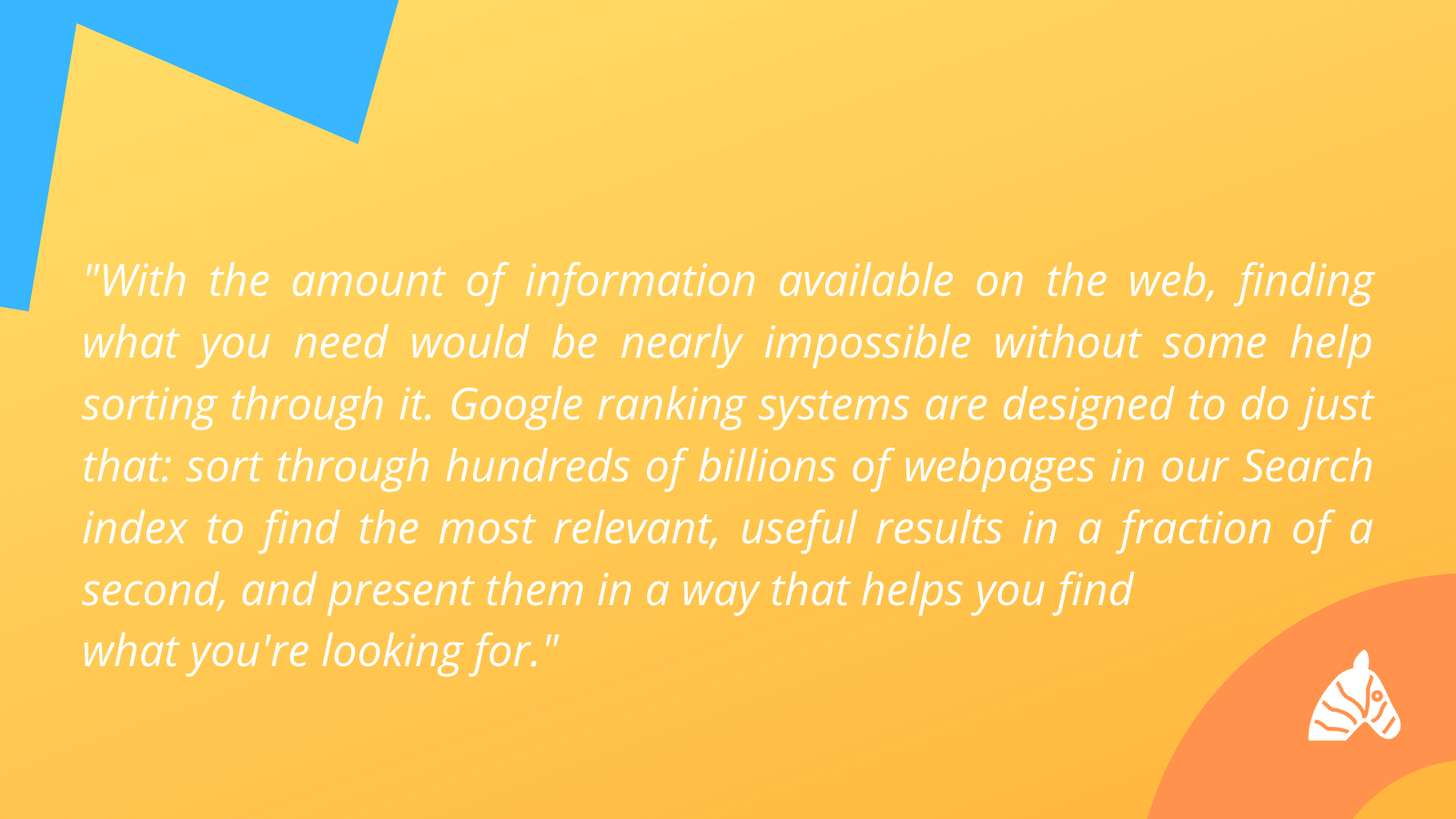 quote about the importance of Google ranking factors