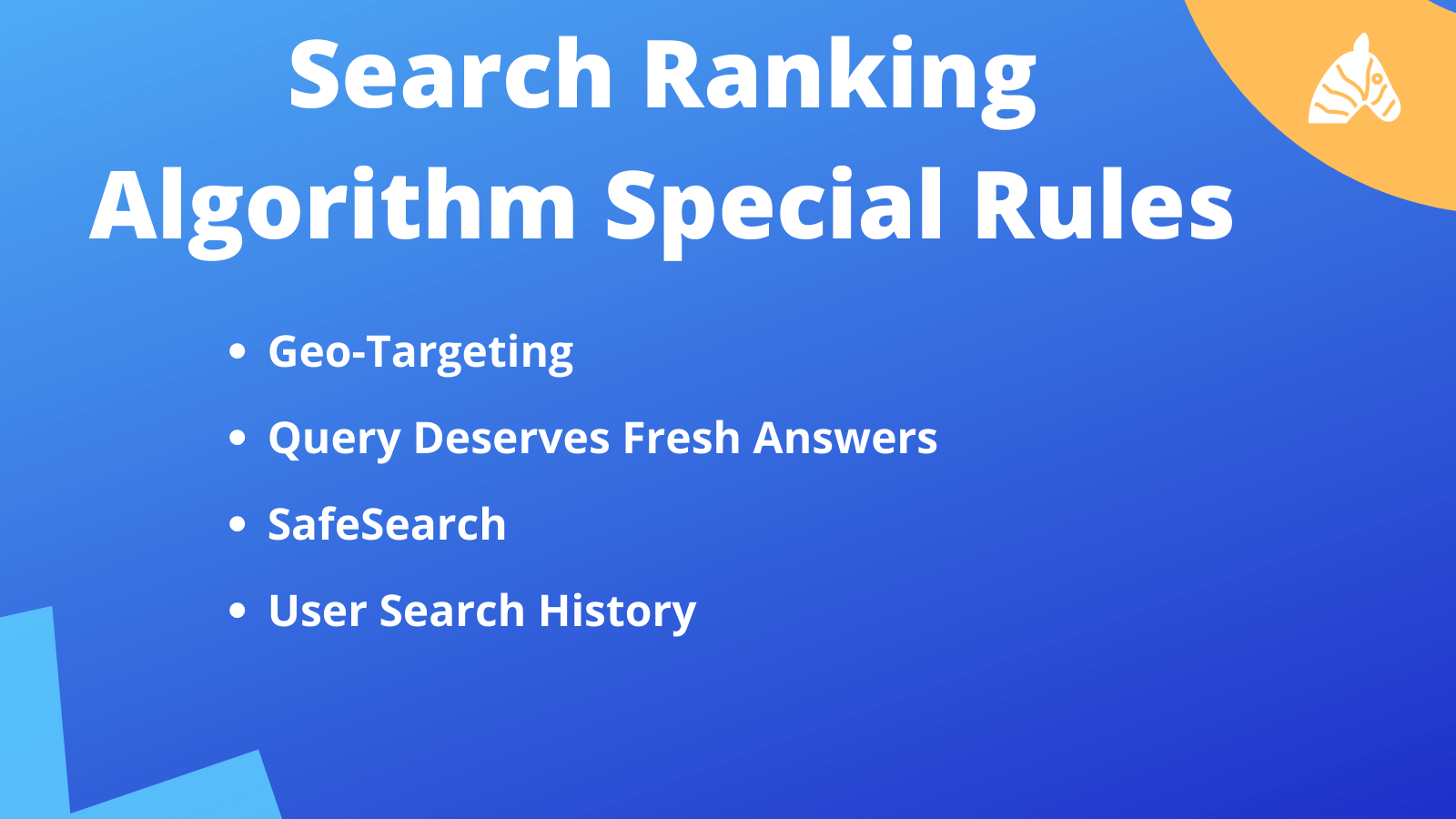 Search ranking algorithm special rules