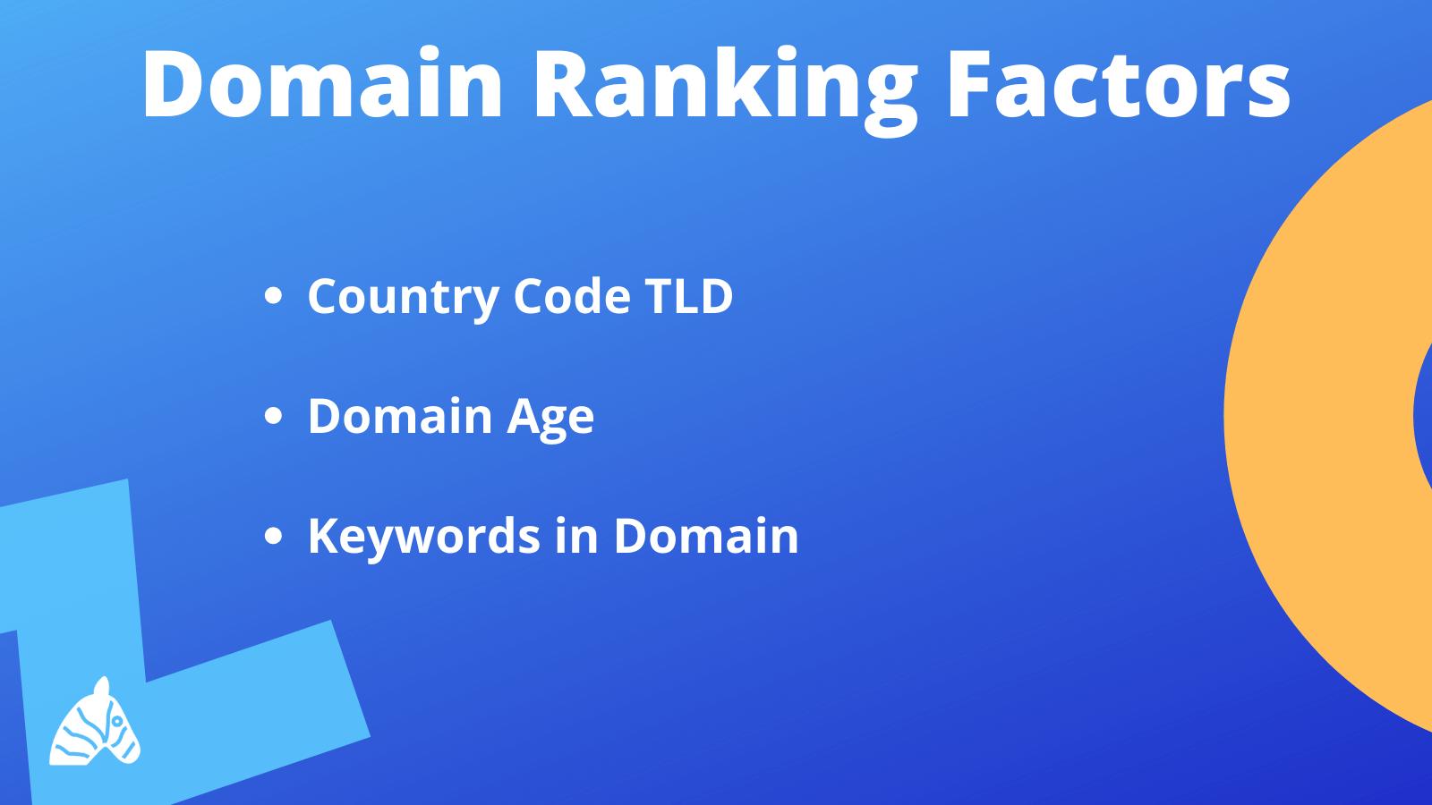 domain level ranking factors