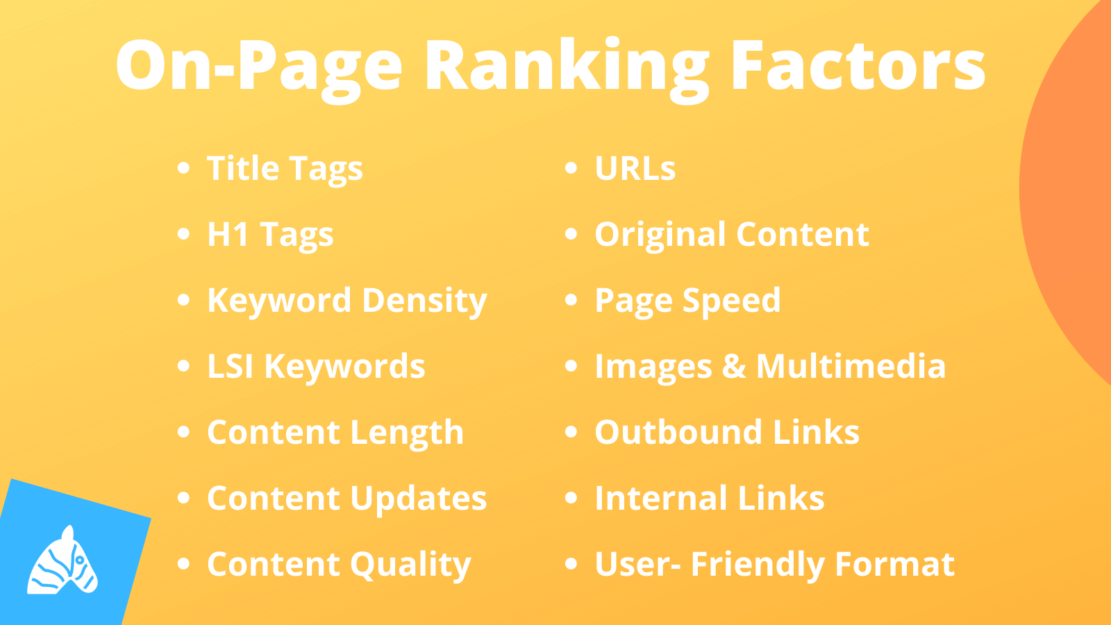 on-page SEO ranking factors